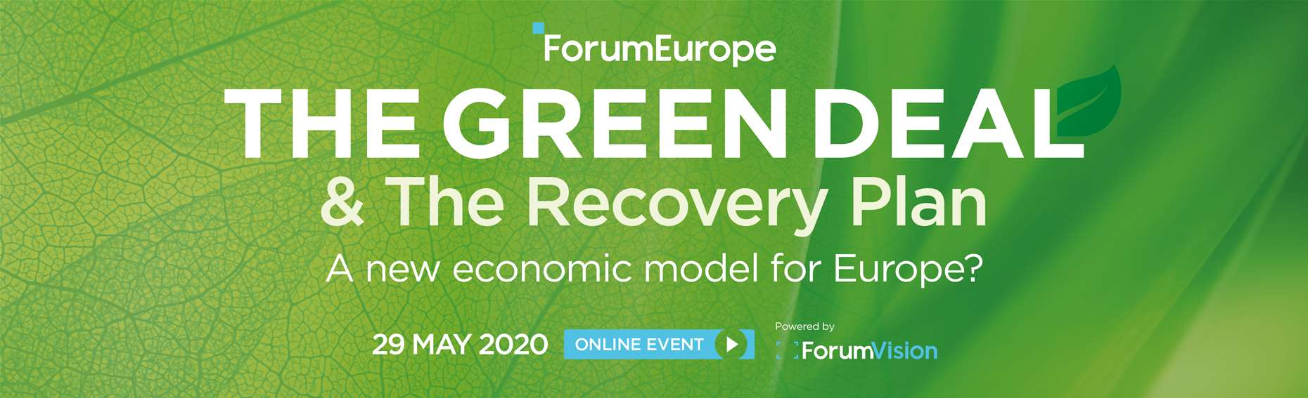 The Green Deal & The Recovery Plan | A New Economic Model for Europe?