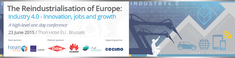 Reindustrialisation of Europe: Industry 4.0, Innovation, jobs and growth