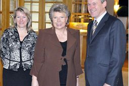 Vice President Viviane Reding with Maurits Bruggink friom Seldia and Susanne Czech from EMOTA