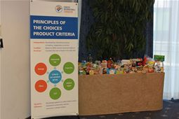 Display of products approved by the Choices programme