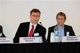 Jonathan Weeks (Intel) & Stephen Deadman (Vodafone) during the opening panel